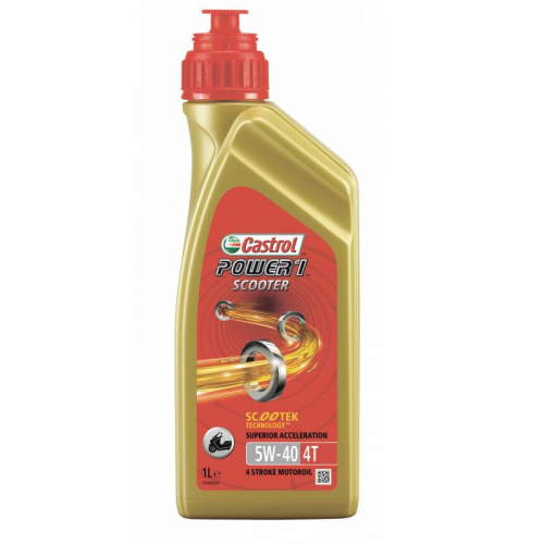 Масло Castrol мото Power 1 Scooter 4T 5W40 мот син. (1л)