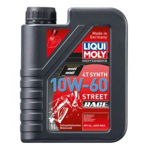 Масло моторное для мотоциклов 10W60 LIQUI MOLY 1л синтетика Racing Synth 4T