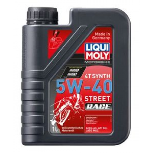 Масло моторное для мотоциклов 5W40 LIQUI MOLY 1л синтетика Racing Synth 4T