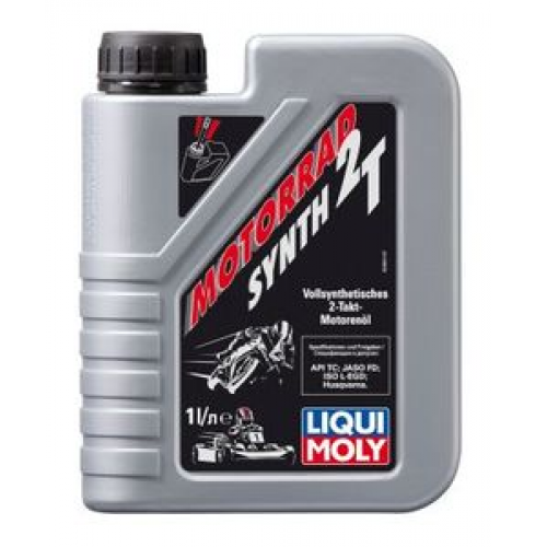 Масло моторное для мотоциклов LIQUI MOLY 1л синтетика Synth Street Race 2T